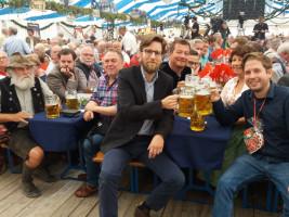 v.r.: Kevin Kühnert, Ruth Müller, Uli Grötsch, Thomas Schug